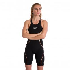 Speedo LZR Pure Intent Open Back Kneeskin (Black/Gold)